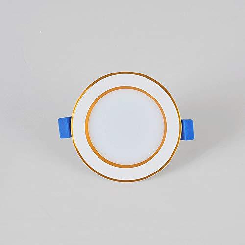 5W LED empotrado luz de techo, Focos Focos interior, corte □ 70-85MM, Ronda de aleación de aluminio de la carcasa for sala de estar Dormitorio Cocina [Clase A ++ Energía] (Color : 3000k)