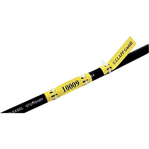 LAPP 83254750 LFL2H YE/WH Kabel-Etikett Fleximark 35 x 9 mm Farbe Beschriftungsfeld: Gelb Anzahl Etiketten: 40