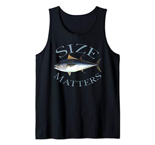 Size Matters Bluefin Tuna Fish Angler Gear Funny Fishing Pun Tank Top
