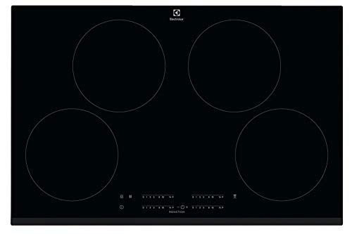 Electrolux CIT81443 - Placa de inducción con 4 zonas de cocción de 80 cm, color negro