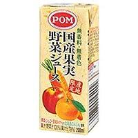 えひめ飲料 POM(ポン) 国産果実野菜ジュース 200ml紙パック×24(12×2)本入×(2ケース)