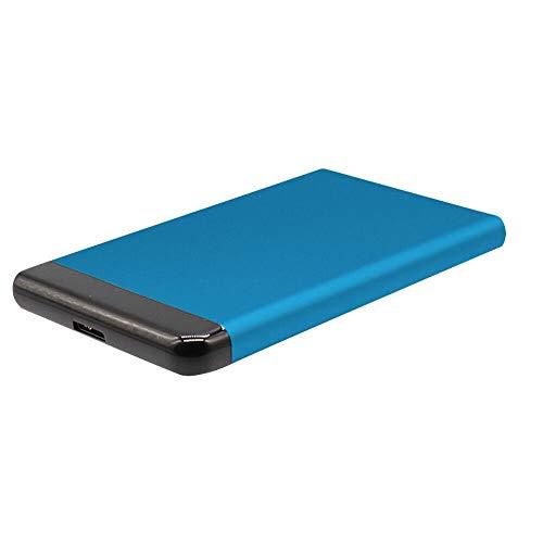 iScooter Externe Festplatte USB 3.0 1 TB 2 TB - Ultra Slim tragbare Festplatte Externe Festplatte für Mac, PC, Desktop, Laptop-Blau 2 TB