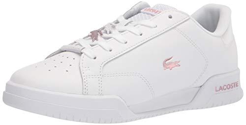 Lacoste Women's Twin Serve Sneaker, White/Light Pink, 6