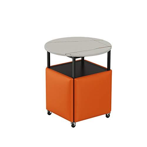 Stapelbarer Sofa Stuhl Hocker Aufbewahrungshocker 5 in 1 SitzwüRfel Waschtisch Hocker Organizer Schiefer Tischsofa Kreativer Wasserdichter Hockersitz mit Vientiane-Rad,