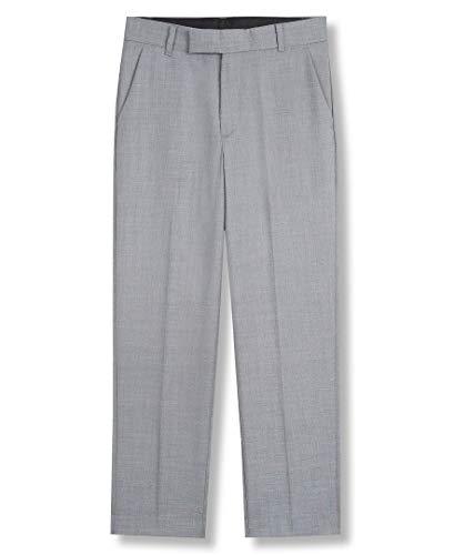 캘빈 클라인 보이즈의 플랫 슈트 드레스 팬트 스트레이트 레그 핏 & 헴드 보텀 벨트 루프 및 기능적 프론트 포켓