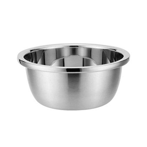 Bassin de soupe MXJ61 304 Bassin en Acier Inoxydable Rond Assaisonnement Pots Laver Les légumes Pots Maison Faire Cuire Plus épais Approfondir Le (Taille : 20cm)