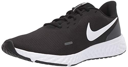 Nike Men's Revolution 5 Wide Running Shoe, Black/White-Anthracite, 12 4E US