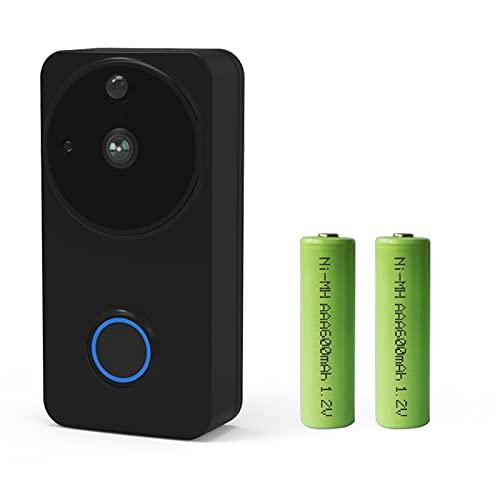ワイヤレスビデオドアベルWiFiモニターアラームドアベルIPカメラバッテリー防水ドアチャイムキットホームオフィスホテル (サイズ : SET 4)