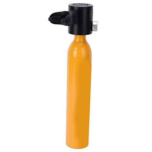 0.5L Mini Tauchflasche Taucherflasche Sauerstoffflasche Tragbare Tauchen mit Manometer Tauchausrüstung Pressluftflasche Scuba Diving Taucher Zubehör Schnorcheln Unterwasser Atemgerät(Orange)