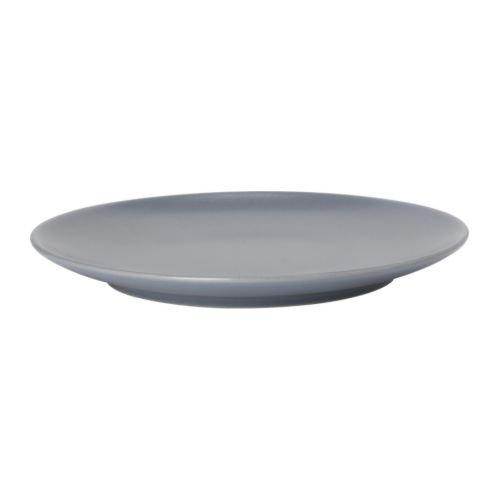 IKEA DINERA Teller in graublau; aus Steinzeug; (26cm)
