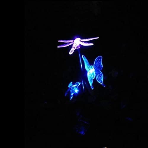 Mobestech MultiColor Solar Garden Light Hummingbird Mariposa Dragonfly Stake Lights Decorativo Camino Luz Paisaje Luz para Jardín Patio Jardín Patio