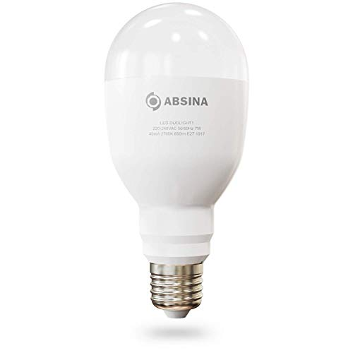 ABSINA LED Glühbirne mit Stromausfallautomatik - E27 Notleuchte 7W, 650 Lumen, warmweiß 2700K - Notlicht Akku Lampe mit 4 Stunden Notbeleuchtung bei Stromausfall - LED Notfalllampe Birne warmweiss