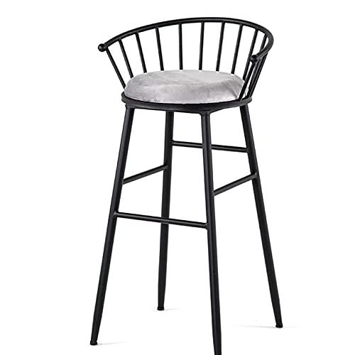 YJKDM Taburetes Altos taburetes de Bar de Hierro Forjado Simples, mesas y sillas Retro Modernas/sillas de Bar, Respaldo de Lujo Ligero, taburetes de Bar de Estilo Industrial