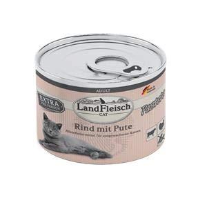 Landfleisch Cat Adult Pastete Rind+Pute | 6X 195g Katzenfutter