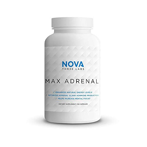 NOVA Three Labs | Max Adrenal 2.0 | Enhance Energy, Optimize Hormones, Increase Mental Focus, and Improve Well-Being | 30 Servings