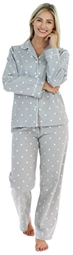 PajamaMania Women's Cotton Flannel Long Sleeve...
