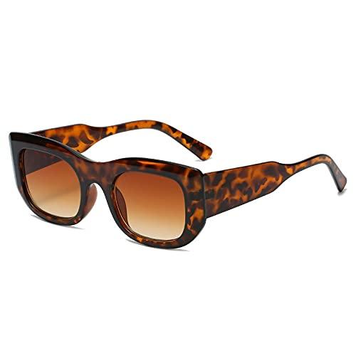 AMFG Rectángulo retro Gafas de sol Piernas anchas Gafas de sol Multicolor Hombres y mujeres Conducción Espejo (Color : A)
