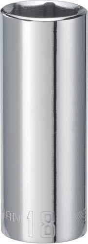 CRAFTSMAN Deep Socket, Metric, 3/8-Inch Drive, 18mm, 6-Point (CMMT44435)