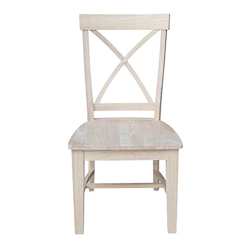 International Concepts Set of Two Creekside X-Back Chairs, Unfinished