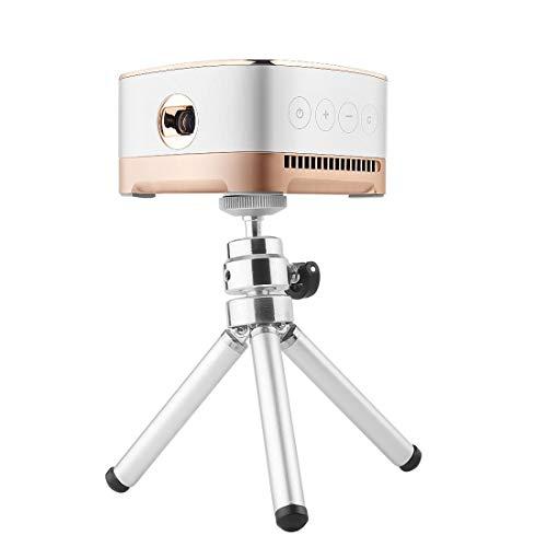 Heimkino tragbar Projektor P07-D Mini 50 Lumen Android Heimkino Bluetooth-LED-Projektor mit Fernbedienung, Unterstützung Micro SD & Micro USB & WiFi & Audio Out