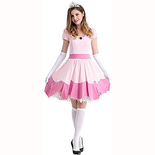 LJLis Vestido para Mujer Disfraz Cosplay de Lolita Disfraz de Carnaval de Chica del Servicio,XL
