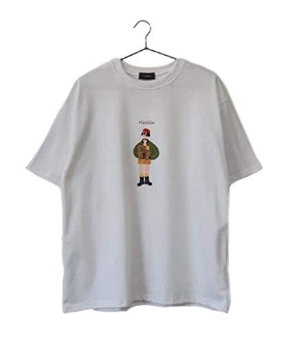 Tシャツ 半袖Tシャツ T-シャツ LEON レオン MATHILDA マチルダ フロントプリント ペインティングタッチ 映画 主人公 キャラクター コットン (ホワイト・マチルダ)