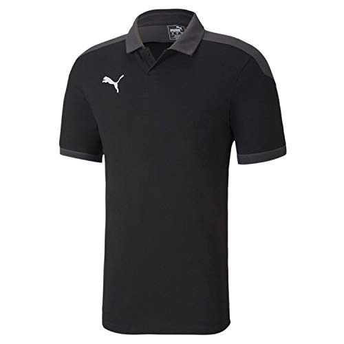 PUMA Herren Poloshirt, Puma Black-Asphalt, XL