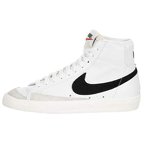Nike W Blazer Mid '77  Zapatillas de bsquetbol Hombre  White Black Sail  41 EU