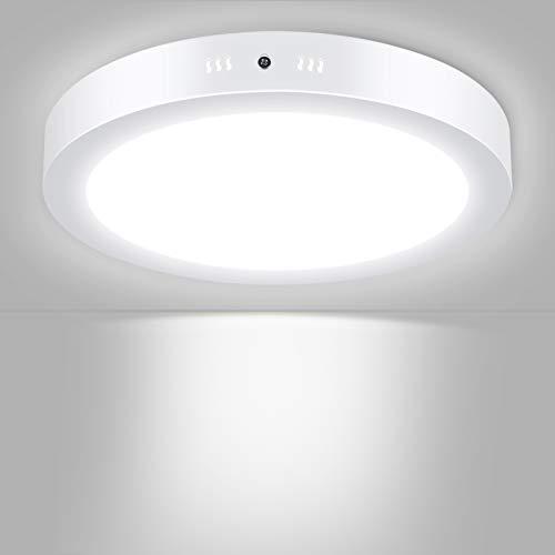 Unicozin – Lámpara LED de techo redonda, sustituye a bombilla de 150 W, 24 W, 2000 lm, blanco frío (6000 K), diámetro de 30 cm, marco de metal, ideal para dormitorio, cocina, salón