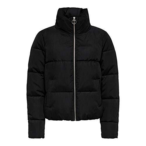 ONLY Damen Onldina Short Quilted Puffer Cc OTW Jacke, Schwarz (Black Black), X-Large (Herstellergröße:XL)