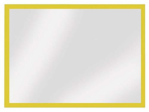 Veloflex 3604010 - Marco magnético (DIN A4, 3 caras, con banda magnética, 5 unidades), color amarillo