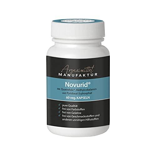 B Vitamine mit Uridinphosphat - Novurid® - patentierte Zusammensetzung in veganen Kapseln - hergestellt in deutscher Apotheke