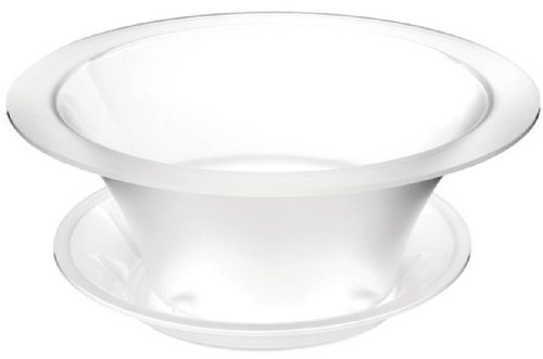 Rosseto SA112 Round Frosted Acrylic Bowl and Drip Tray Ice Bath Cooler
