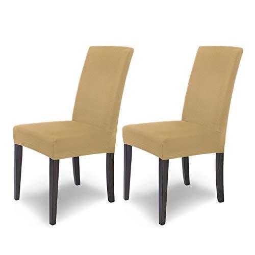 SCHEFFLER-HOME Mia microfibra 2 Coperture della sedia, elastiche Fodere, stretch protezione con banda elastica, Beige