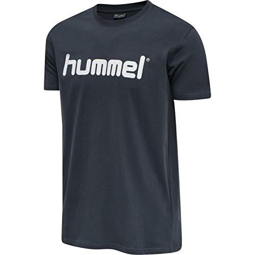 hummel Camiseta HMLGO Cotton Logo T-Shirt S/S, Hombre, Camiseta, 203513, Gris, Extra-Large