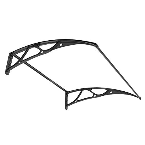 Door Canopy Awning Outdoor Windproof Rainproof Roofing Canopy, Patio Porch Window, Polycarbonate Aluminum Alloy, Customizable-60x120cm