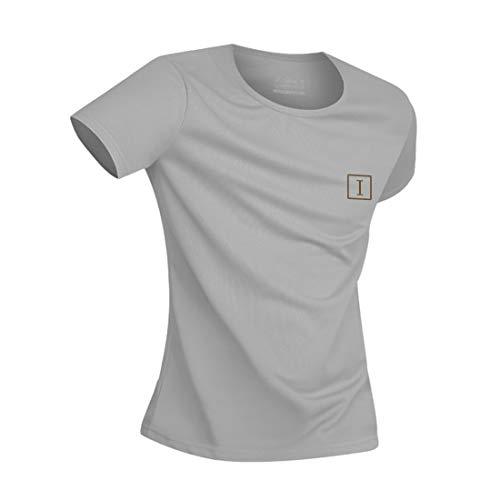 Irypulse Camiseta Hidrofóbica para Hombres y Mujeres, T Shirt Anti-incrustante Impermeable, Unisex T-Shirt Deportiva Casual Manga Corta, Secado Rápido, Absorción Humedad y Transpirable - Gris