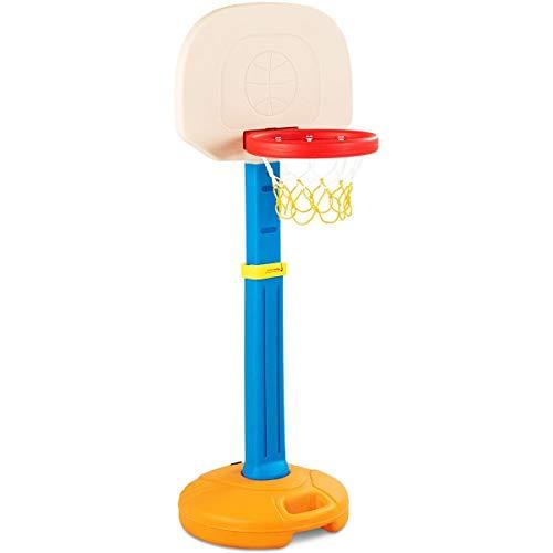 USA_BEST_SELLER Kids Children Basketball Hoop Stand Indoor Outdoor Portable for Toddler, Kids Adjustable Height