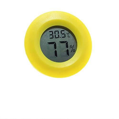 Medidor de Humedad y Temperatura, Mini Termómetro Higrómetro Digital Interior de Temperatura y Humedad, Monitoreo de Temperatura/Humedad para terrario, Apto para Reptiles - Amarillo