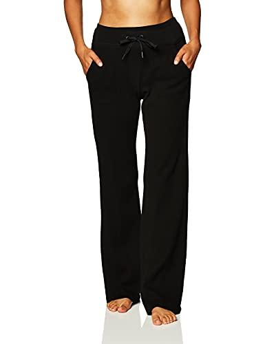 Calvin Klein Women's Premium Performance Thermal Wide Leg Pant, Black, Small