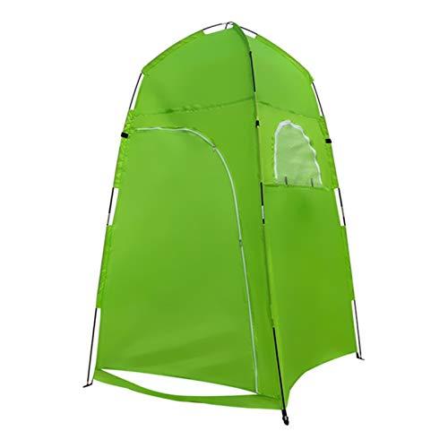 HUBi Tienda de campaña Ducha, Pop Up portátil a Prueba de Agua de privacidad Cambiar Cuarto de Vestir Tienda de Senderismo/Playa/WC Exterior (Color : Green)