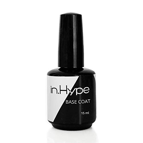 IN.HYPE Quick Soak Gel Base Coat - used with Hard Builder Gels. LED Curable.