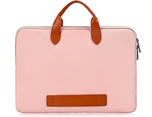 13.5 15 Inch Laptop Bag for Women Ladies Briefcase Handbag for HP Pavilion x360/Chromebook 14, Dell XPS 15 7590, Surface Laptop 3/Book 3, Acer Chromebook 14, Lenovo Yoga C940/Thinkpad X1 14 Case, Pink