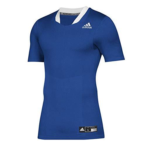 adidas Techfit Lax Jersey- Men's Lacrosse L Collegiate Royal/White