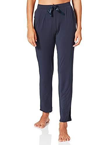 Schiesser Damen Mix & Relax Jerseyhose lang Schlafanzughose, Blau (Nachtblau 804), 40