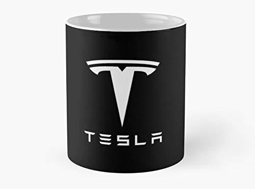 Tesla Motors - Taza de café estándar - 11 oz de calidad premium impresa taza de café - Ideas de regalo únicas para amigos/compañeros de trabajo