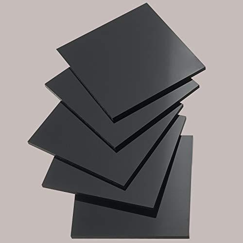 Platte aus POM 500 x 100 x 4 mm schwarz Zuschnitt Delrin