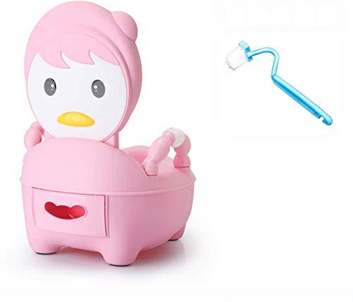 FRlss Potty Potty Training Training Potty Silla, Bebé pequeño Inodoro, Dibujos Animados de plástico Urinal Split, Hombres Y Mujeres Lavable Caja Fuerte y Saludable