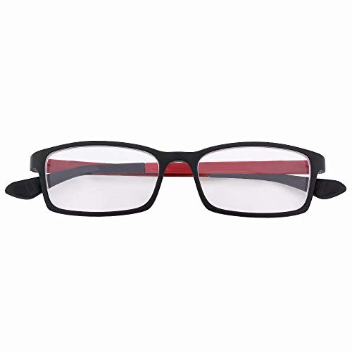 Distance Glasses Red Frame Near-sighted Myopia Glasses -1.00 StrengthThese are not Reading Glasses