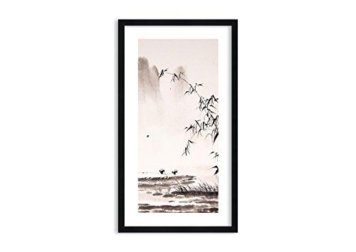 Imagen en un Marco de Madera de Color Negro - Imagen en un Marco - Cuadro sobre Lienzo - Impresión en Lienzo - 45x80cm - Foto número 3116 - Listo para Colgar - en un Marco - F1BPA45x80-3116